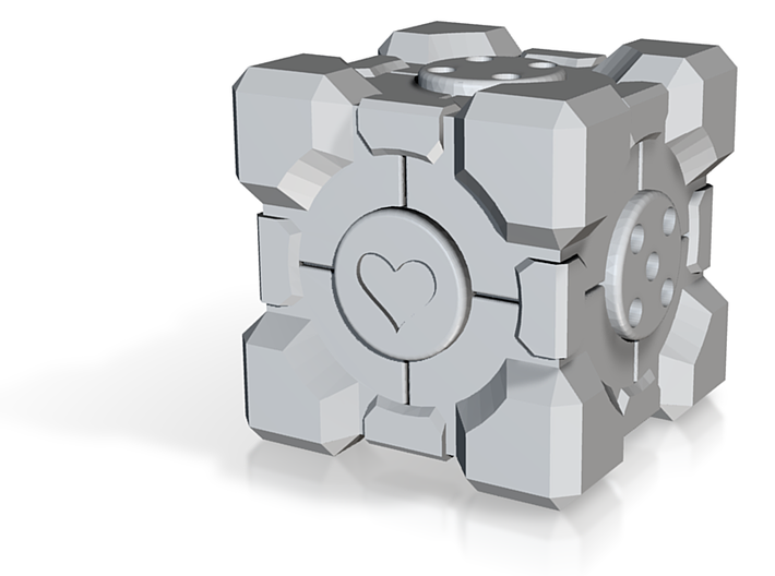 Companion Cube d6 Alternate 3d printed