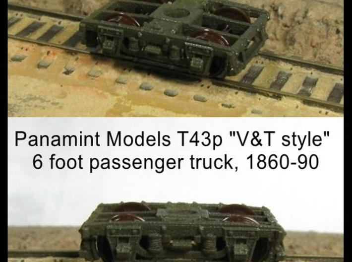 """T43p x8 N scale 1855-80 """"V&T 9 style"""" 6' pass truc 3d printed"""