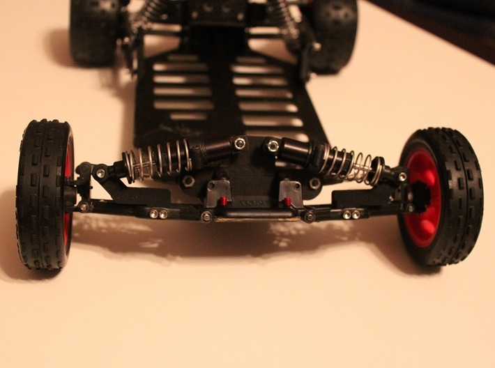Team Losi JRX Pro-SE Front Lowering Mounts 3d printed Mounted on vehicle.