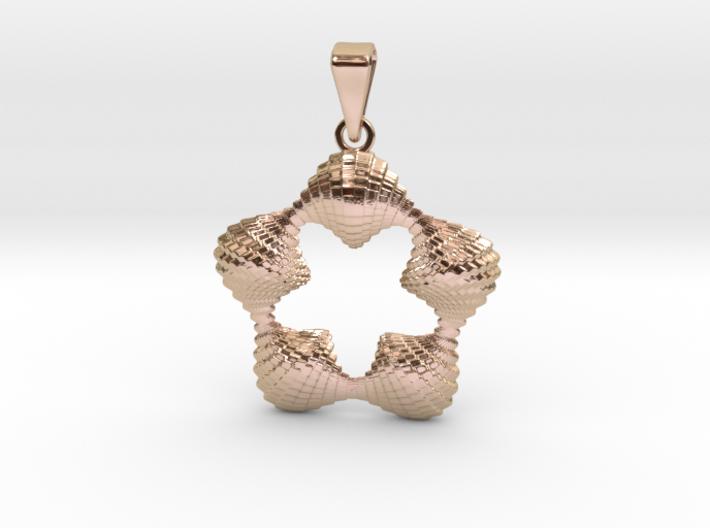 0064 Antisymmetric Torus Pendant (p=5.0) #005 3d printed