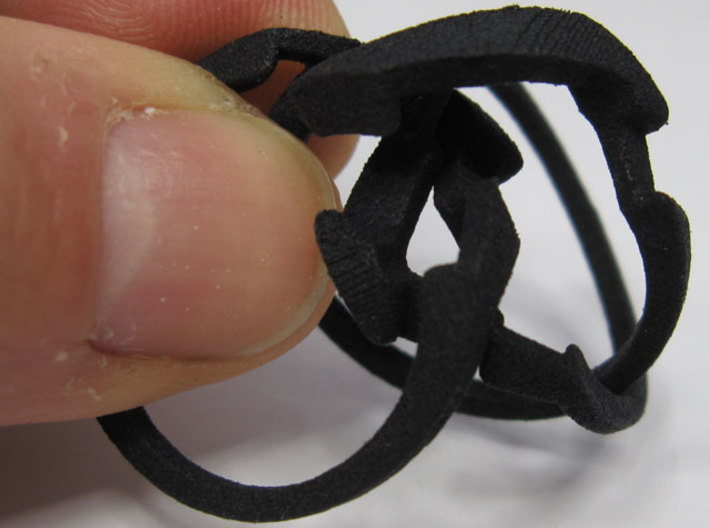 Threesome Ring 3d printed