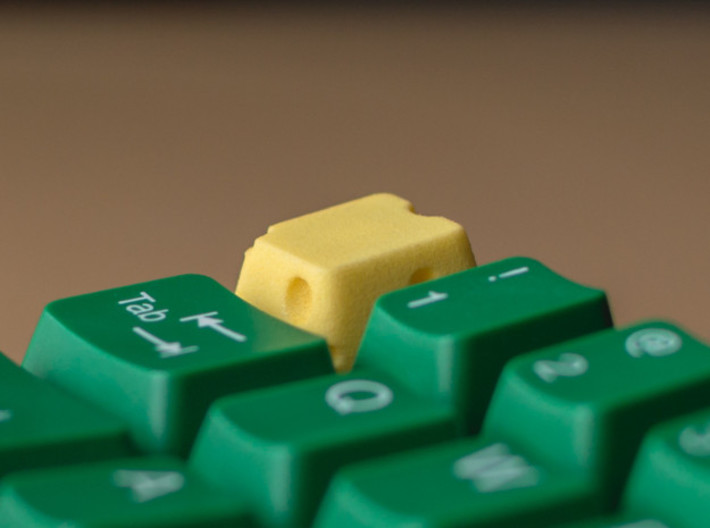 Cherry MX Cheese Keycap 3d printed Custom Cherry MX cheese keycap in Yellow plastic. Thanks to itscracked for the great photos!