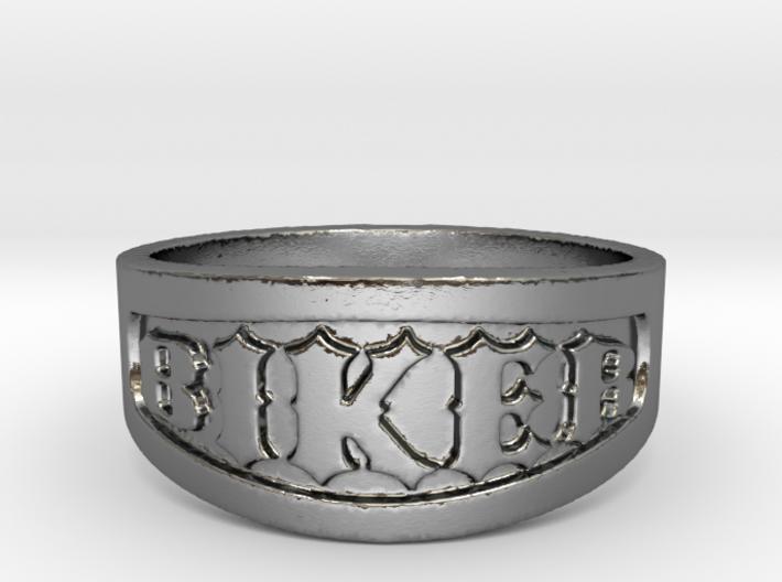 Biker Iron Ring Size 13 3d printed