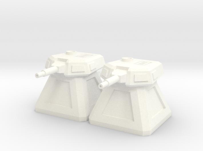 2 Gun Emplacements (1/285) 3d printed