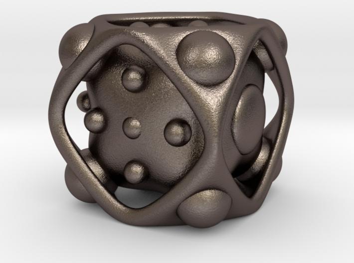 Dice No.2 L (balanced) (3.6cm/1.42in) 3d printed