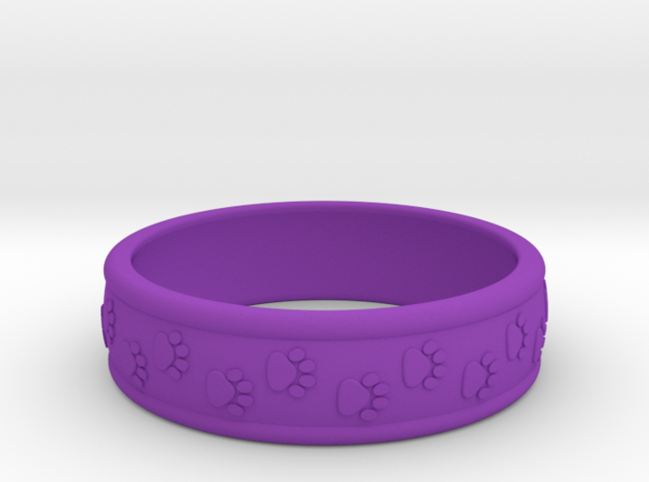 Size 9 Pet Paw Ring A 3d printed