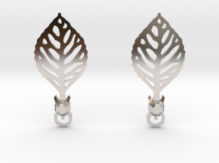 Turtle Leaf Earrings 3d printed