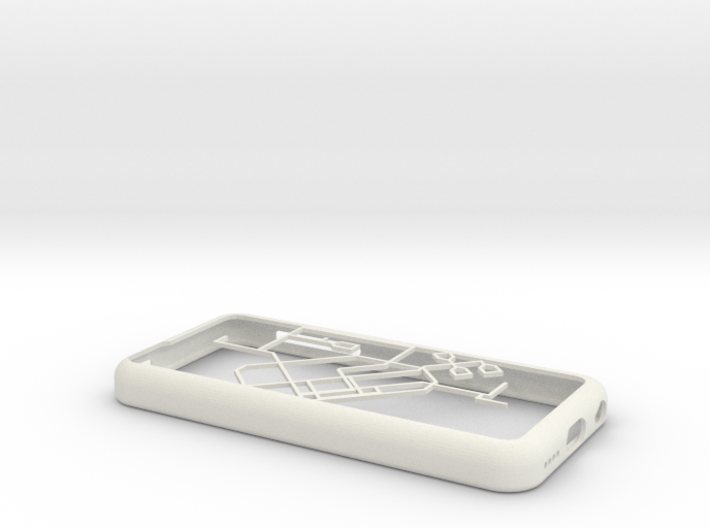 Singapore MRT network map iPhone 5c case 3d printed