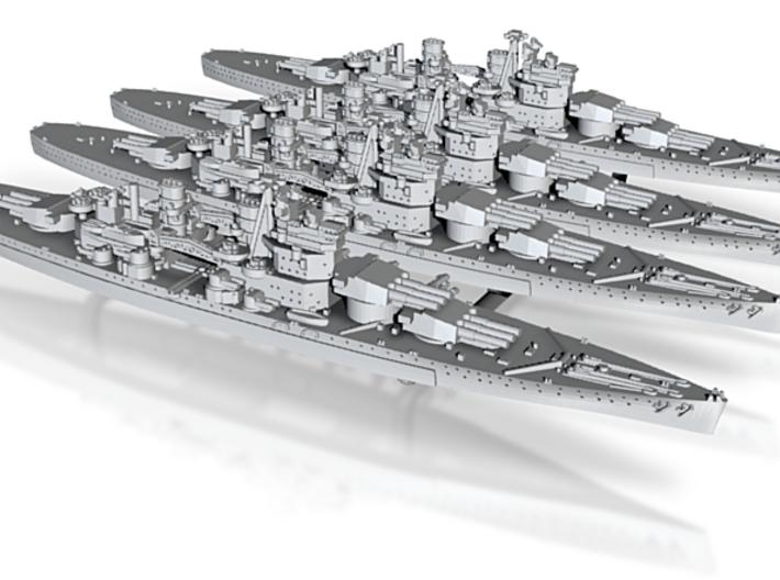 48UK03X2 Lion class battleship (1939) x4 3d printed