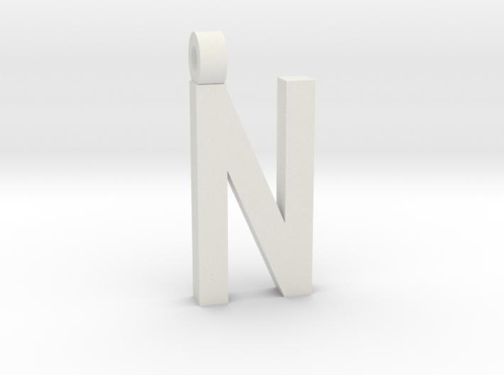 Letter N Necklace 3d printed