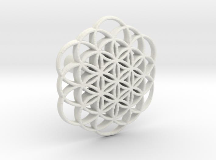 Life flower knob 3d printed