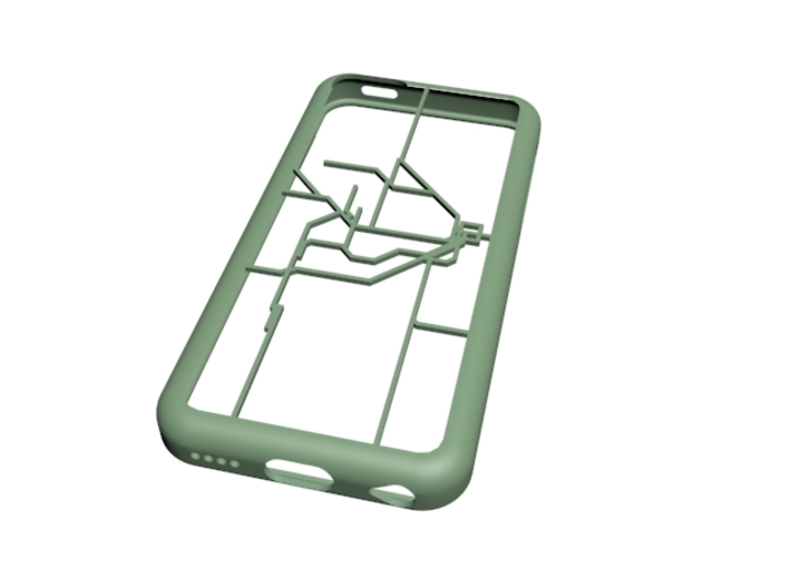 Sydney Suburban Network map iPhone 5c case 3d printed