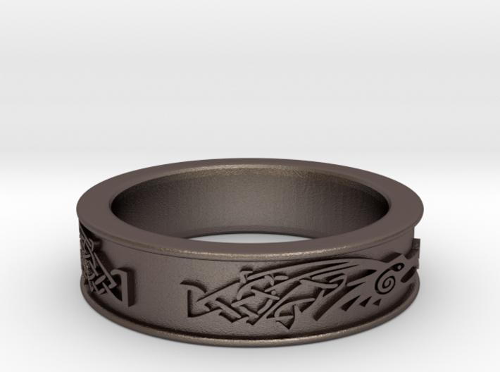 Ascskyrim Ring Dragonborn Size 13 Jobulon 3 3d printed