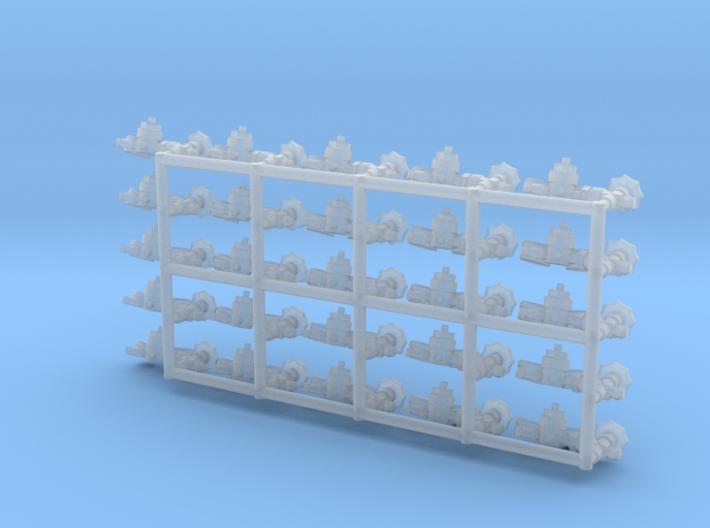 1/35 scale Gas bottle Regulator (w/valve) 3d printed
