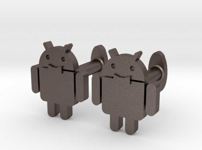 Android-cufflink 3d printed