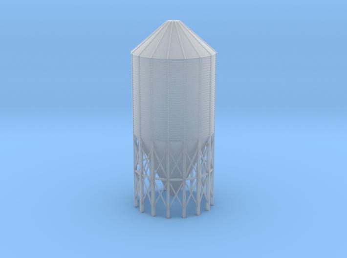 'N Scale' - 60 Deg.-24' dia. x 55' Grain Bin 3d printed