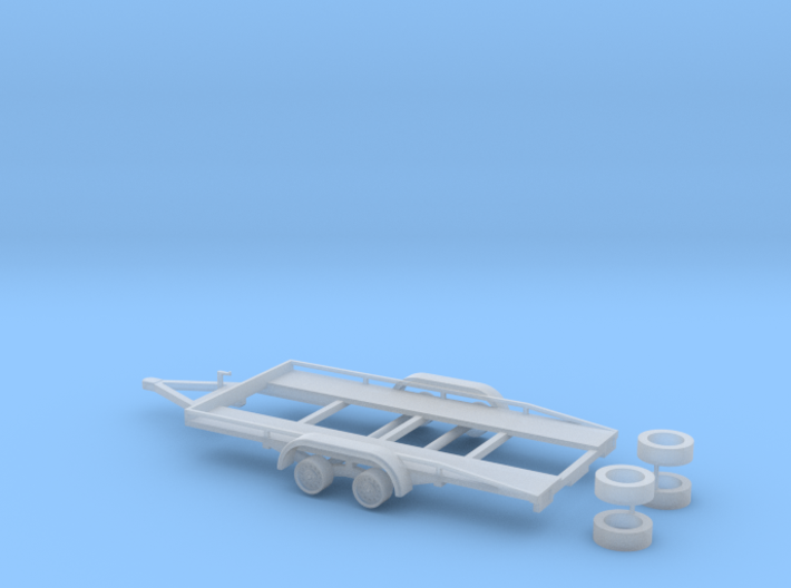 PKW Autotransport Anhänger / car Trailer - 1:87 H0 3d printed