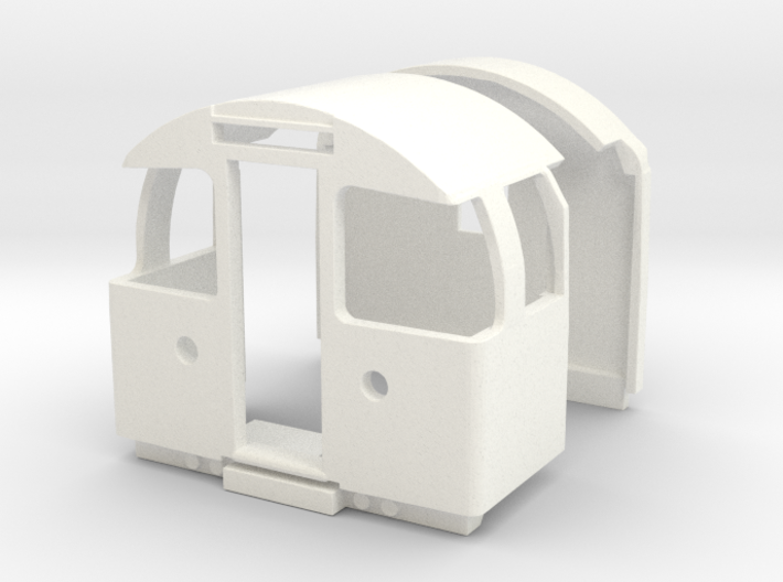 1967 Tube train driving cab and inner end, OO scal 3d printed