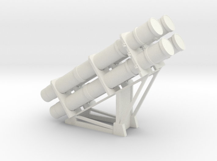1:48 scale RGM-84 HARPOON launchers 3d printed