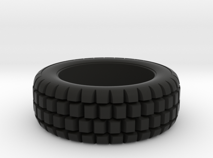 Hard mud tire for 1/24 scale model car 3d printed