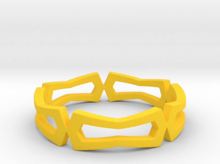 Distorted rectangle pattern Ring Size 10 3d printed