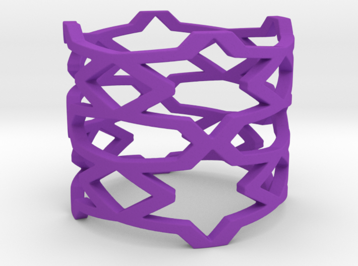 Stars and rhombus Ring Size 11 3d printed