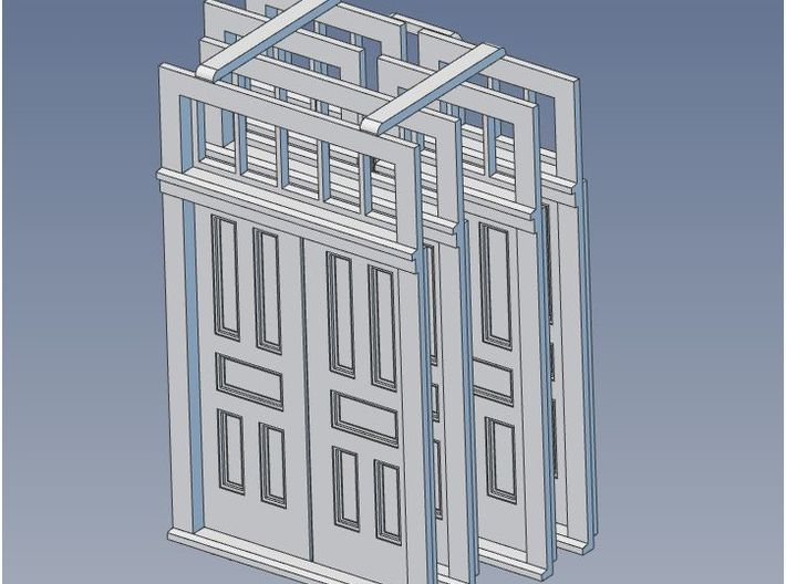 S Scale Elmira Booking Station Door Set 3d printed