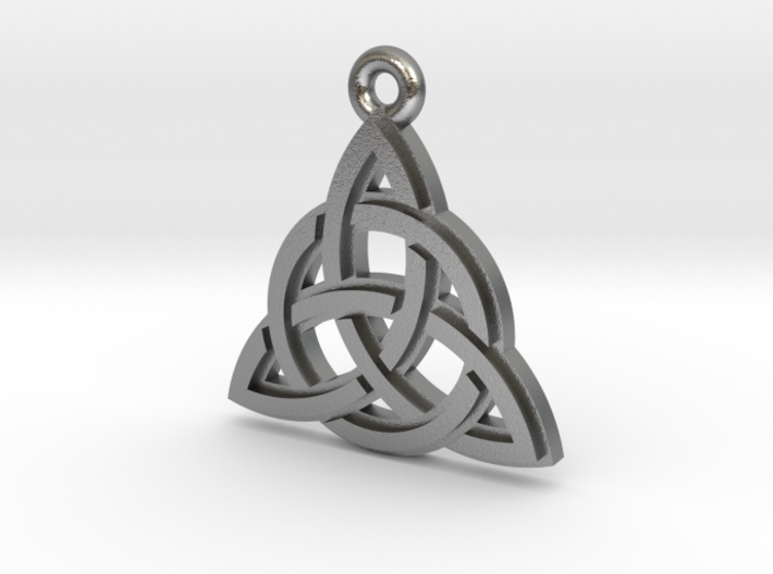 """Trinity Knot"" Pendant, Cast Metal 3d printed"