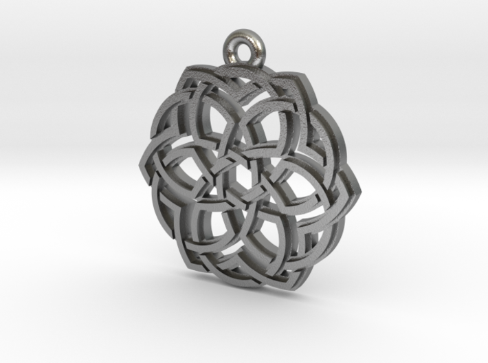 """Crown"" Pendant, Cast Metal 3d printed"