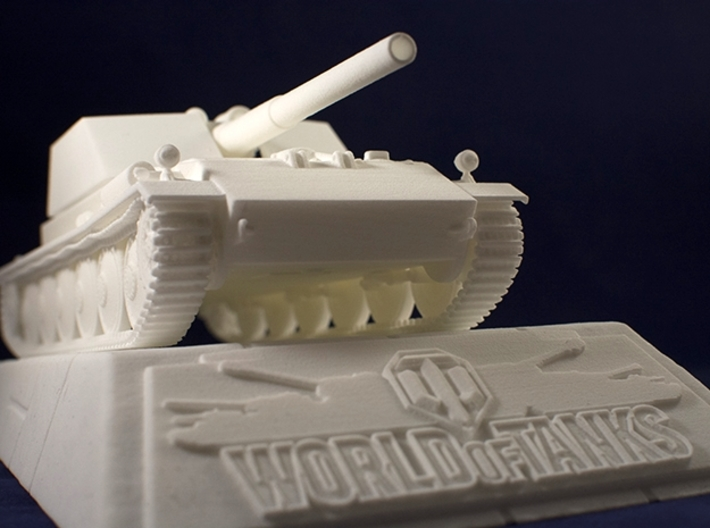 1:35 Rhm.-Borsig Waffenträger from World of Tanks  3d printed Photo of printed model on stand. Stand is sold separately