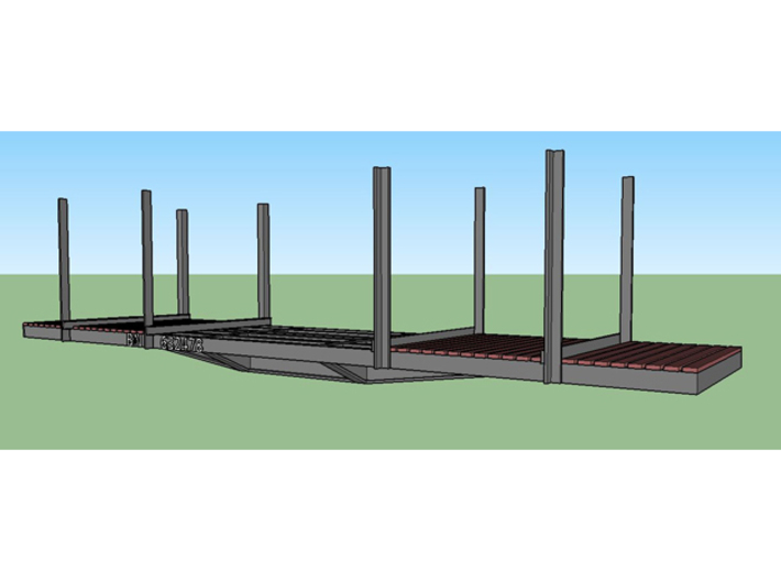 NP-BN Log Car HO Scale Lite Bunks 3d printed Color rendering for ideas
