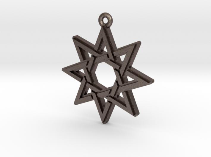 """Octagram 3.0"" Pendant, Printed Metal 3d printed"