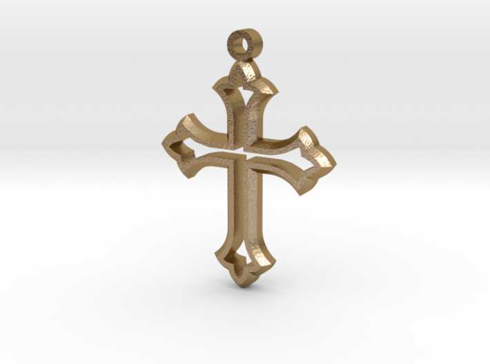 Faceted Cross 3d printed