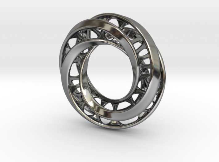 Mobius Ring Pendant v4 *Smaller* 3d printed