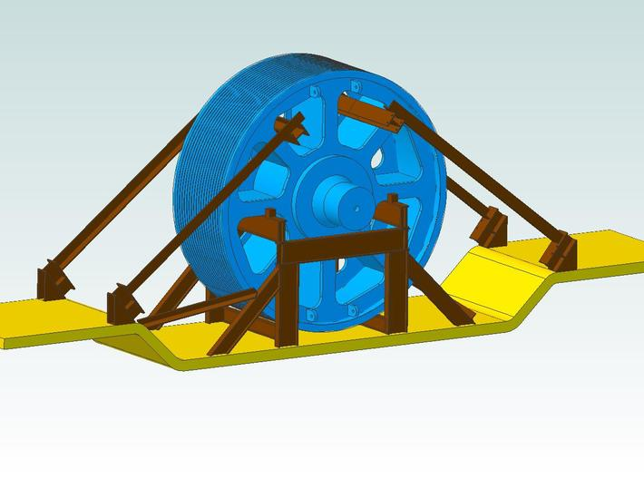 Pulley Load Crib Kit 3d printed Color Rendition, Pulley and Car not included
