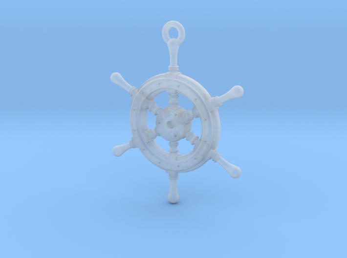 Ship Wheel Pendant 3d printed