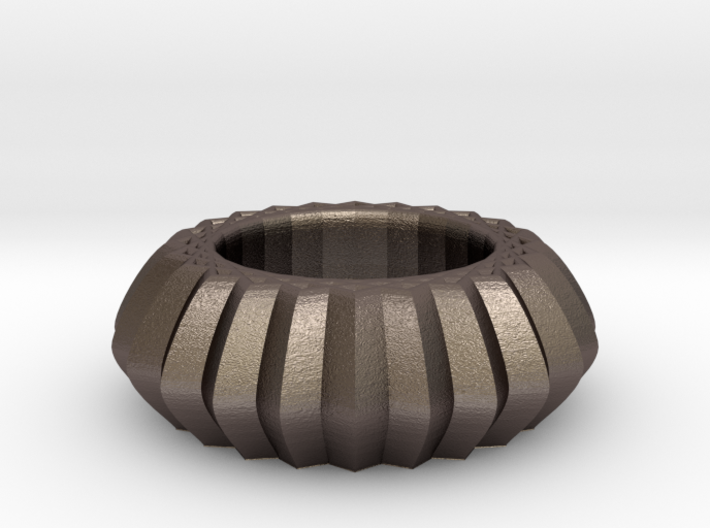 Striped bangle 3d printed