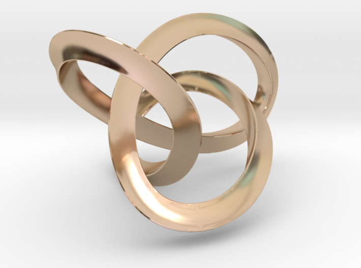 Mobius Figure 8 Knot Pendant - two sizes 3d printed