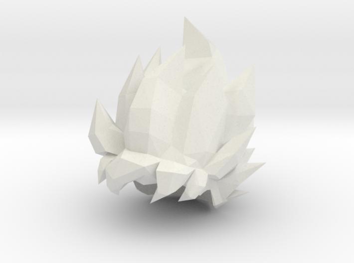 Custom Goku SSj1 Inspired Hair for Lego 3d printed