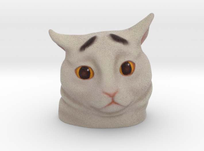 Eyebrow Cat 3d printed