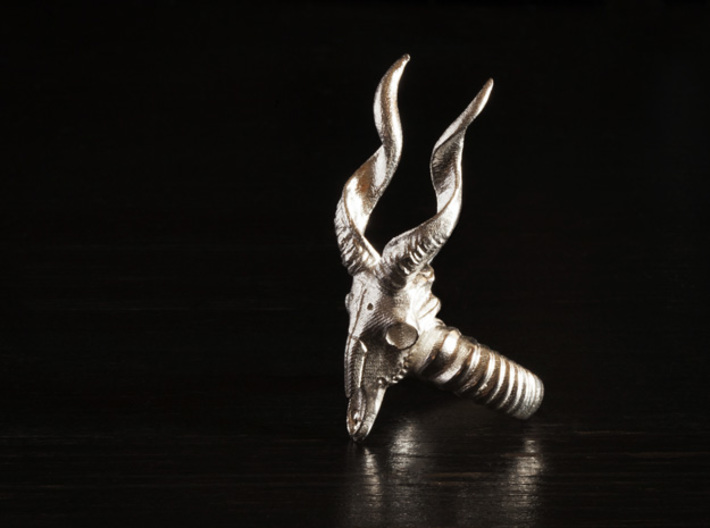 Antelope Ring 3d printed Raw silver