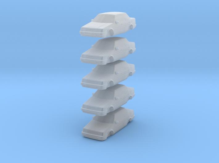 n scale 1984-1987 toyota corolla 5 pack 3d printed