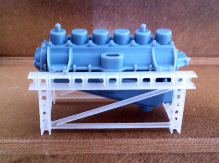 1/32 WWI Flugmotor Stand 3d printed shown with WNW Mercedes D.III crankcase (not included)