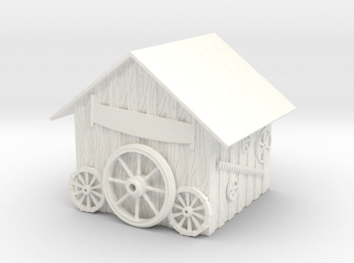 Detailed Rustic Shed #2 3d printed