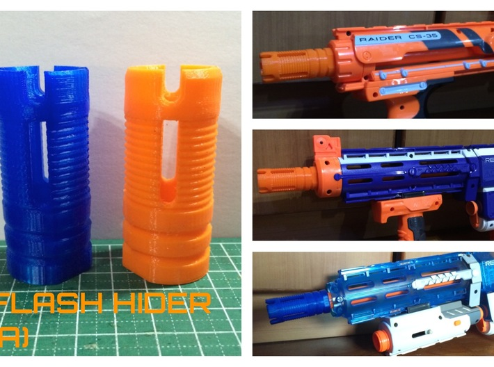 "Nerf ""Flash Hider"" (A)  3d printed"