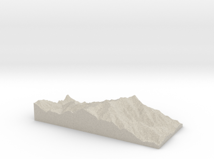 Model of Mount Mitchell 3d printed