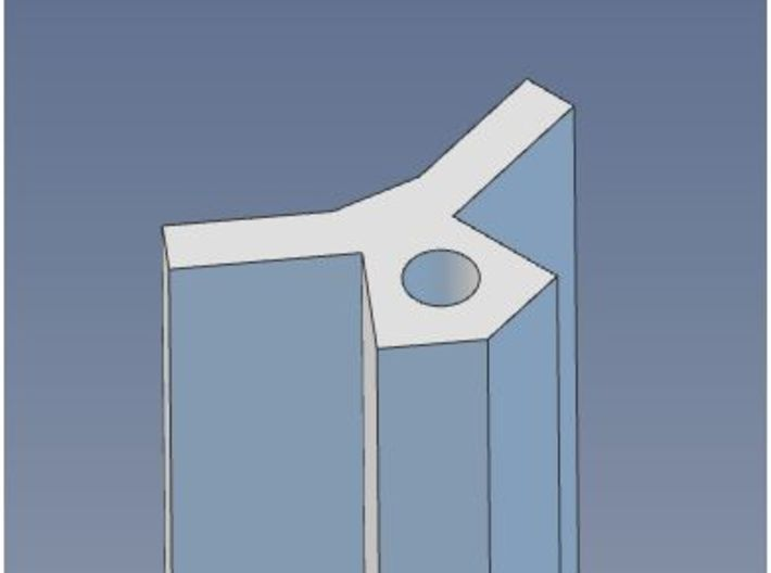 HO Scale 135 Degree Structure Corner Trim 3d printed