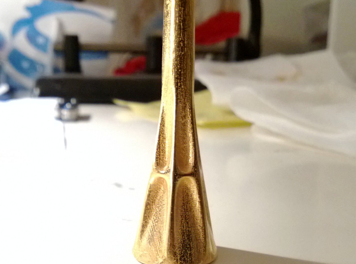 Fluted French Horn Mouthpiece 3d printed Now with a hexagonal cross-section!