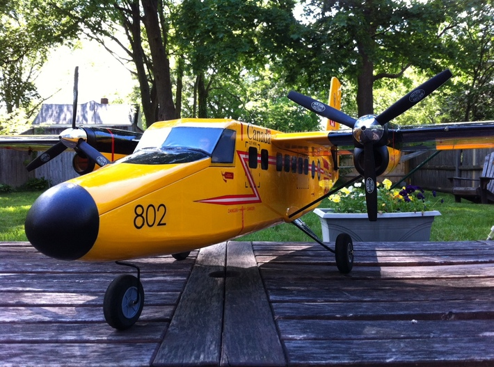 Twin Otter 480 nose cone 3d printed Finished model