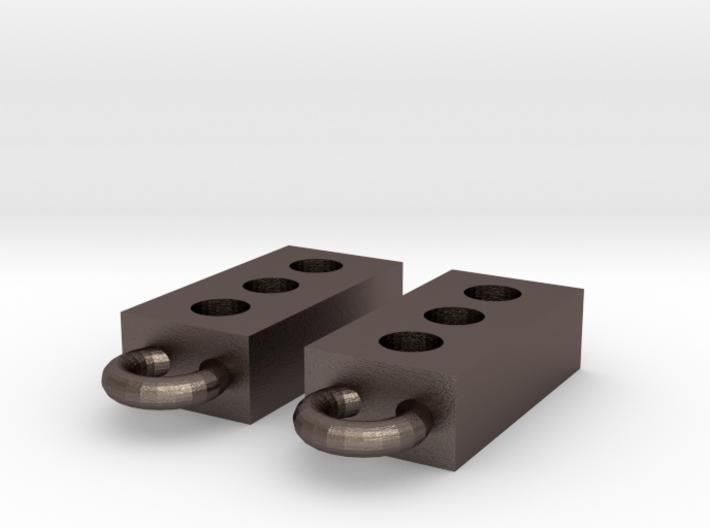 Masonry Brick Earrings 3d printed